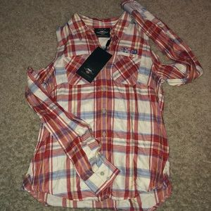 NWT Women's exposed shoulder long sleeve HD XS